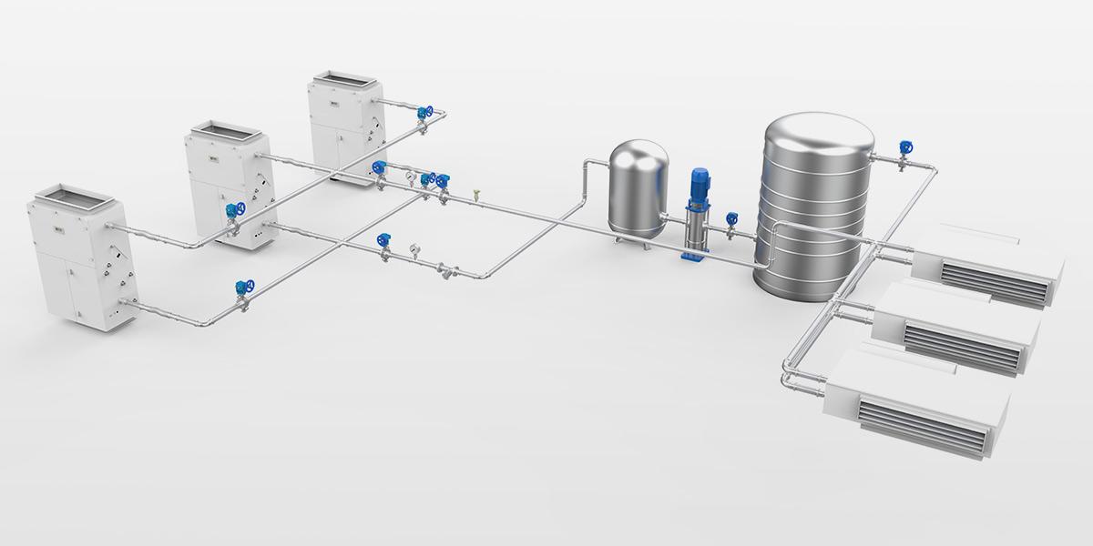 暖通水机管路系统